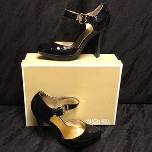 Michael Kors Black Patton Leather Heels